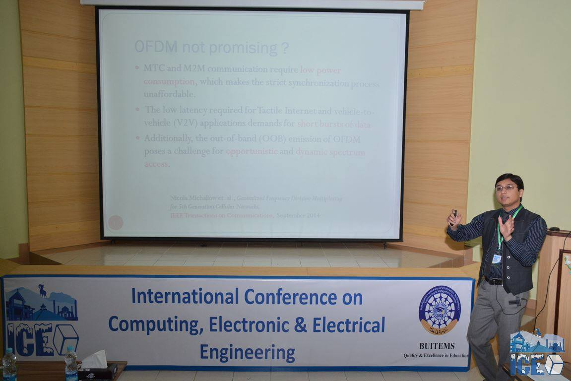 Dr. Syed Ali Hasan Giving A Talk At The Conference On 5G Networks
